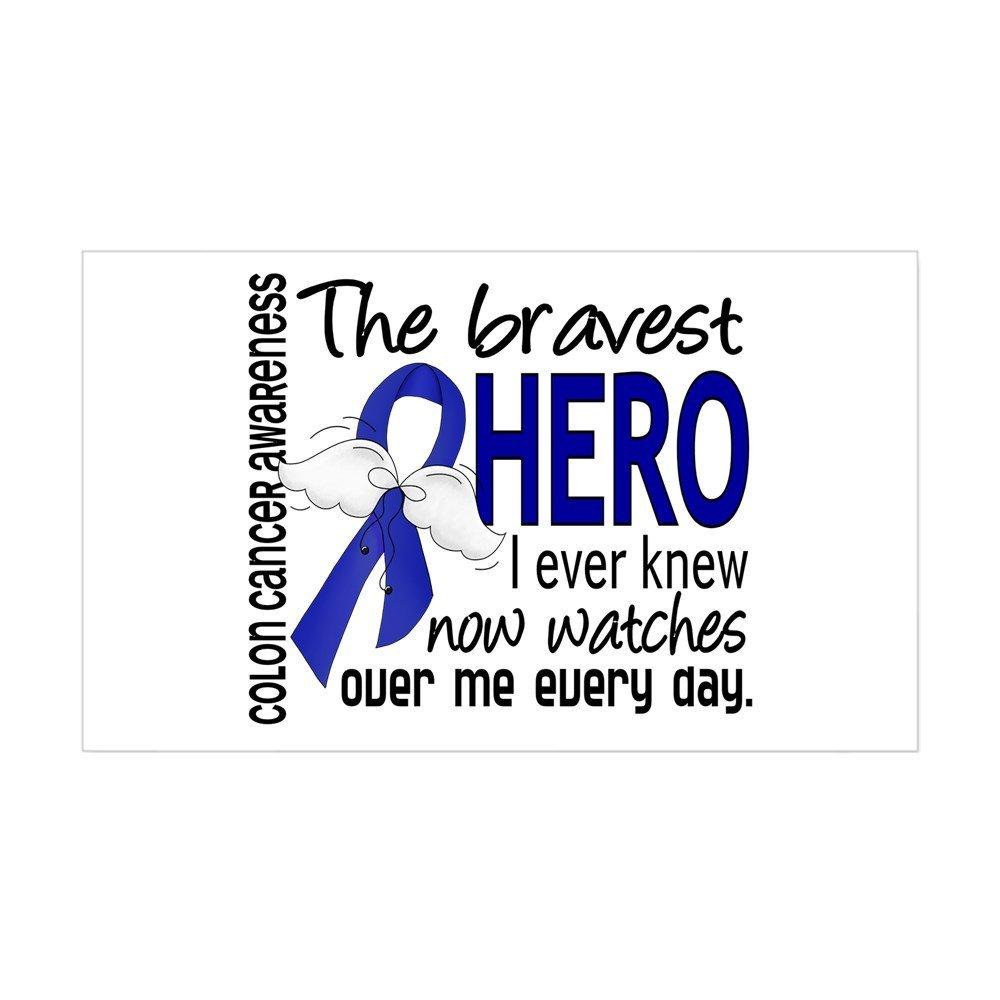 CafePress - Bravest Hero I Knew Colon Cancer Sticker (Rectangl - Rectangle Bumper Sticker Car Decal