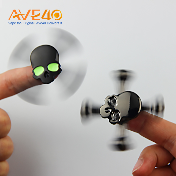 hot sale healthy skull hand spinner fidget toy tricks VS led hand spinner