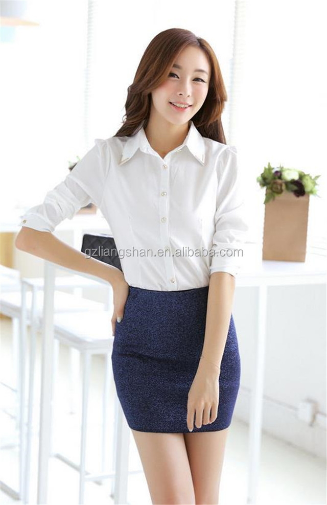china shirt manufacturer office lady formal shirt for
