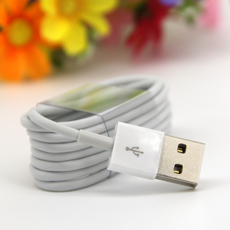 2019 Update Latest White Wire 8pin 1M USB Date Sync Charging Charger Cable for apple iphone xs plus