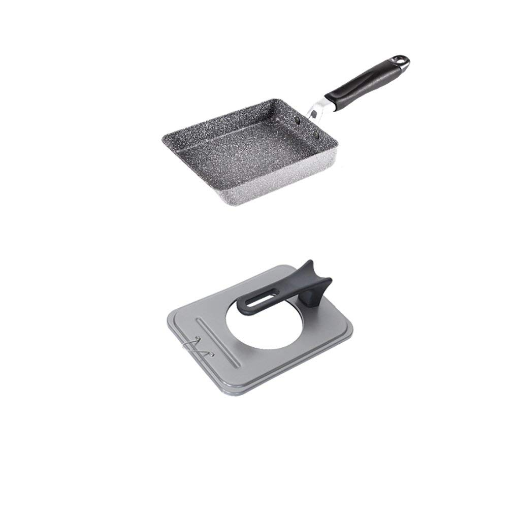 WENJUN Nonstick Sliding Surface Frying Pan Frying Pan 7 Inch Frying Pan Frying Pan Nonstick Pan Frying Pan With Lid Assembly (Color : Gray)