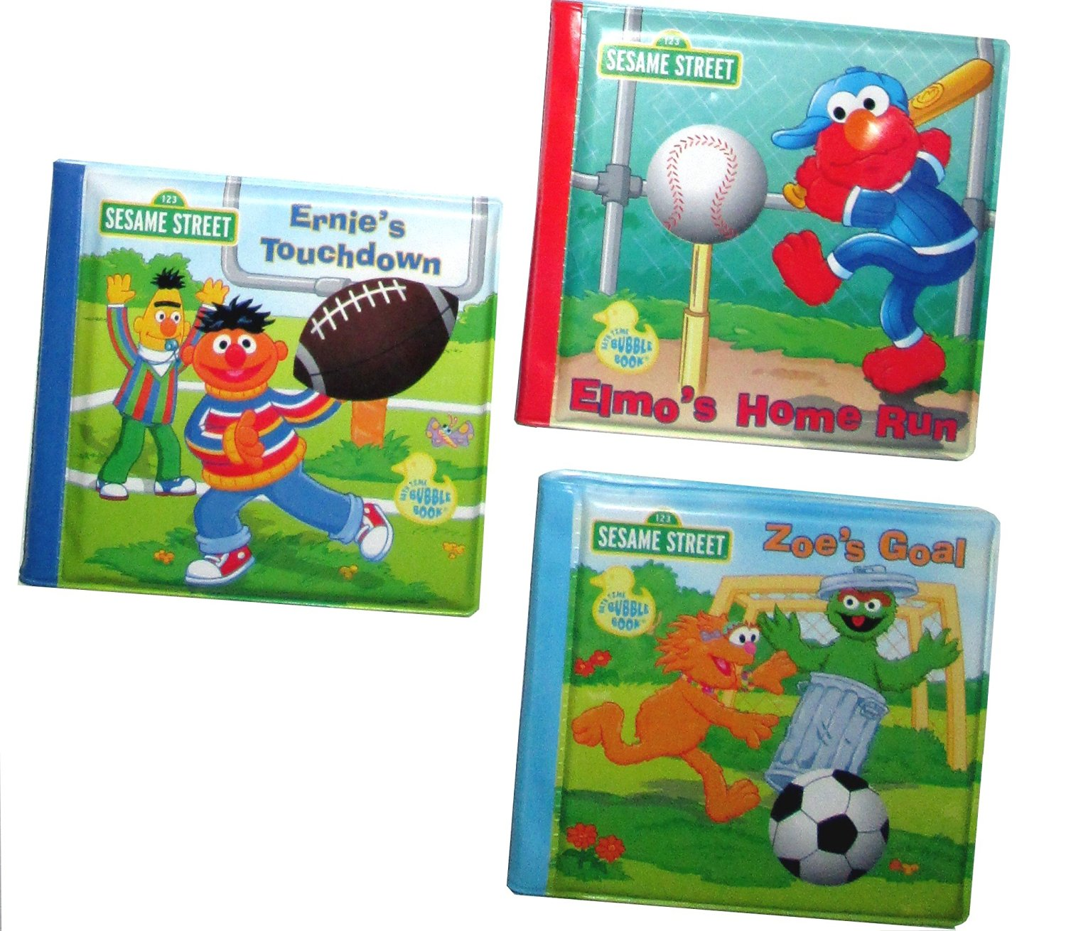 Get Quotations Sesame Street Bath Time Story Picture Toy Featuring Sporty Elmo Ernie Zoe
