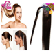 Kinky Curly Claw Clip Grey Human Hair Drawstring Ponytail, Wrap Around Human Hair Ponytail for Black Women
