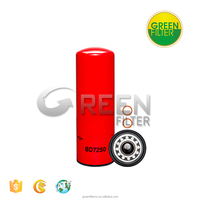High Velocity Diesel Engine Fuel Filter replacement for trucks BD7250 57744XD P552025 LF9025 1841606C1, 1842639C91