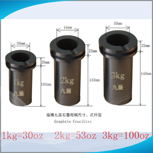 JC High Quality Graphite Crucible Melting Gold Metals