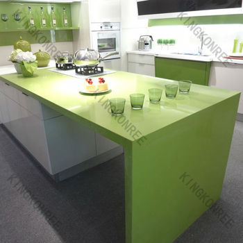 artificial quartz stone kitchen countertop,green quartz countertop