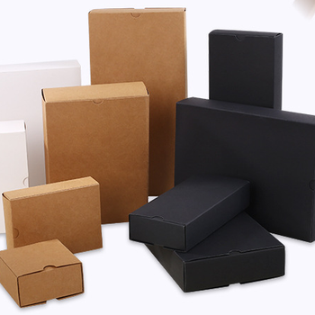 Hot sale Kraft paper box kraft color and black color cuatom size