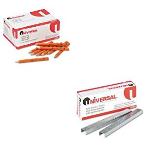 KITUNV24264UNV79000 - Value Kit - Universal Golf amp;amp; Pew Pencil (UNV24264) and Universal Standard Chisel Point 210 Strip Count Staples (UNV79000)