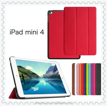 Smart leather folio cover case for Apple iPad mini 4 tablet Protector Skin for iPad mini4 Smart Cover