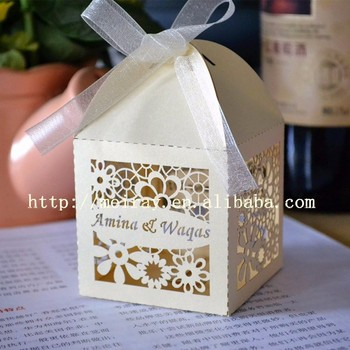 laser cut flower wedding favor boxes with namesbridal shower favors party