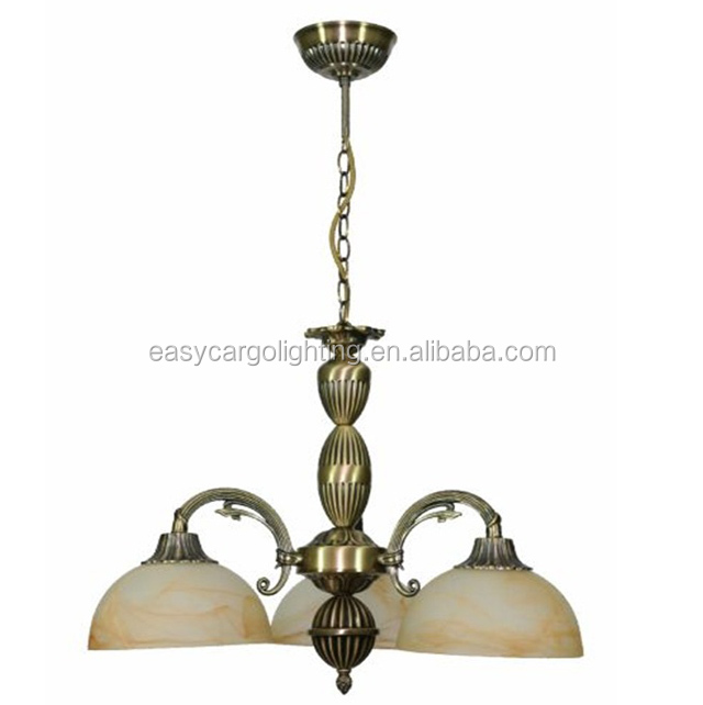Europe popular style bronze colored chandelier / antique chandelier for house decorative chain pendant light(G-2000/3p & 5P)