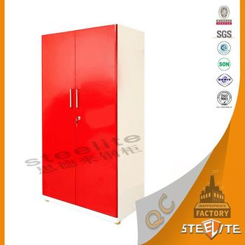 Cabinet Design For Clothes For Girls girls room design 2 door metal wardrobe clothes cabinets/bedroom