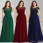 Ever-Pretty Plus Lace Cap Sleeve Evening Gown