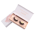Own Logo false eyelash packaging box hot sele 3d mink lashes