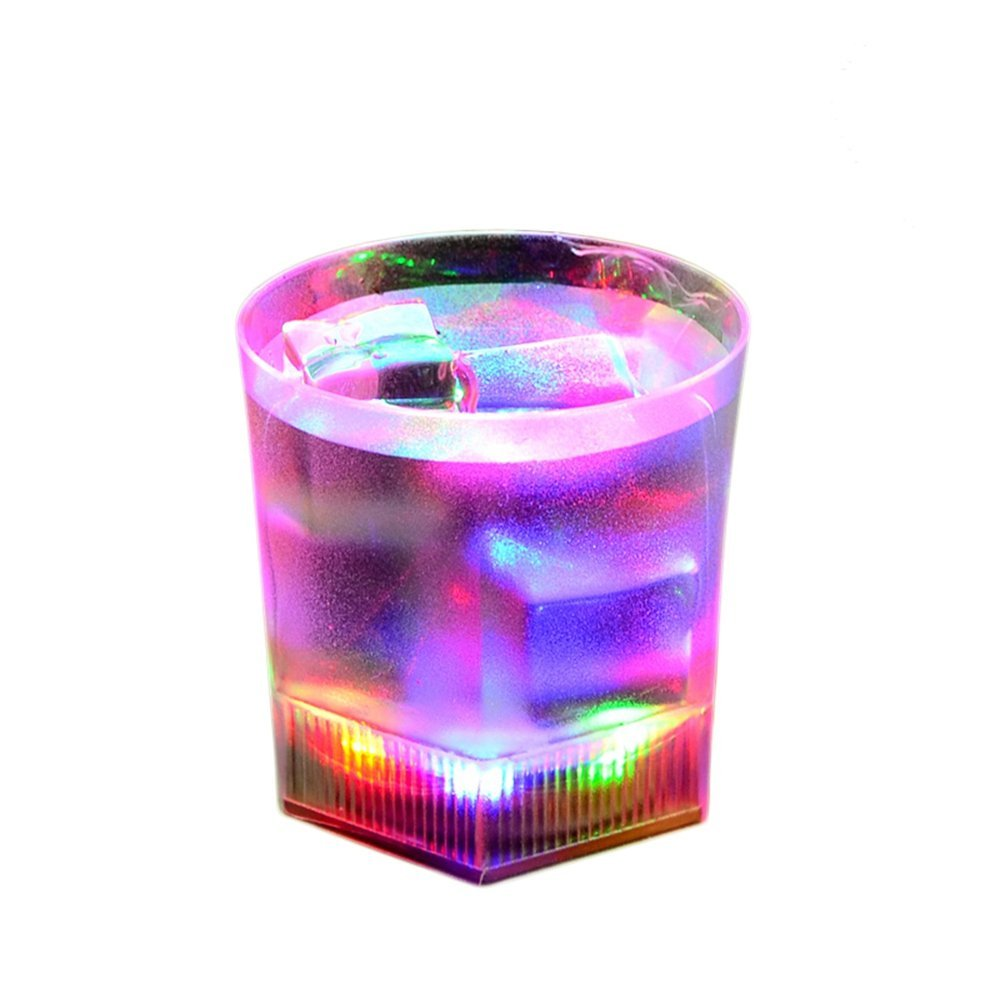 0493bfb0d16d Get Quotations · Fashion Pentagon Shape Plastic Shining Led Flash Light Up  Party Home Cups 190ml