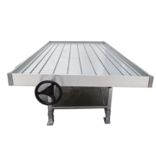 Hydroponic Palletized System 4'' 5'' Garden Agricultural Greenhouse Stainless Steel Rolling Bench for Indoor Plant Growth