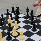 Portable Tournament leather Chess Set Travelling Plastic Pieces and Roll Board with color box