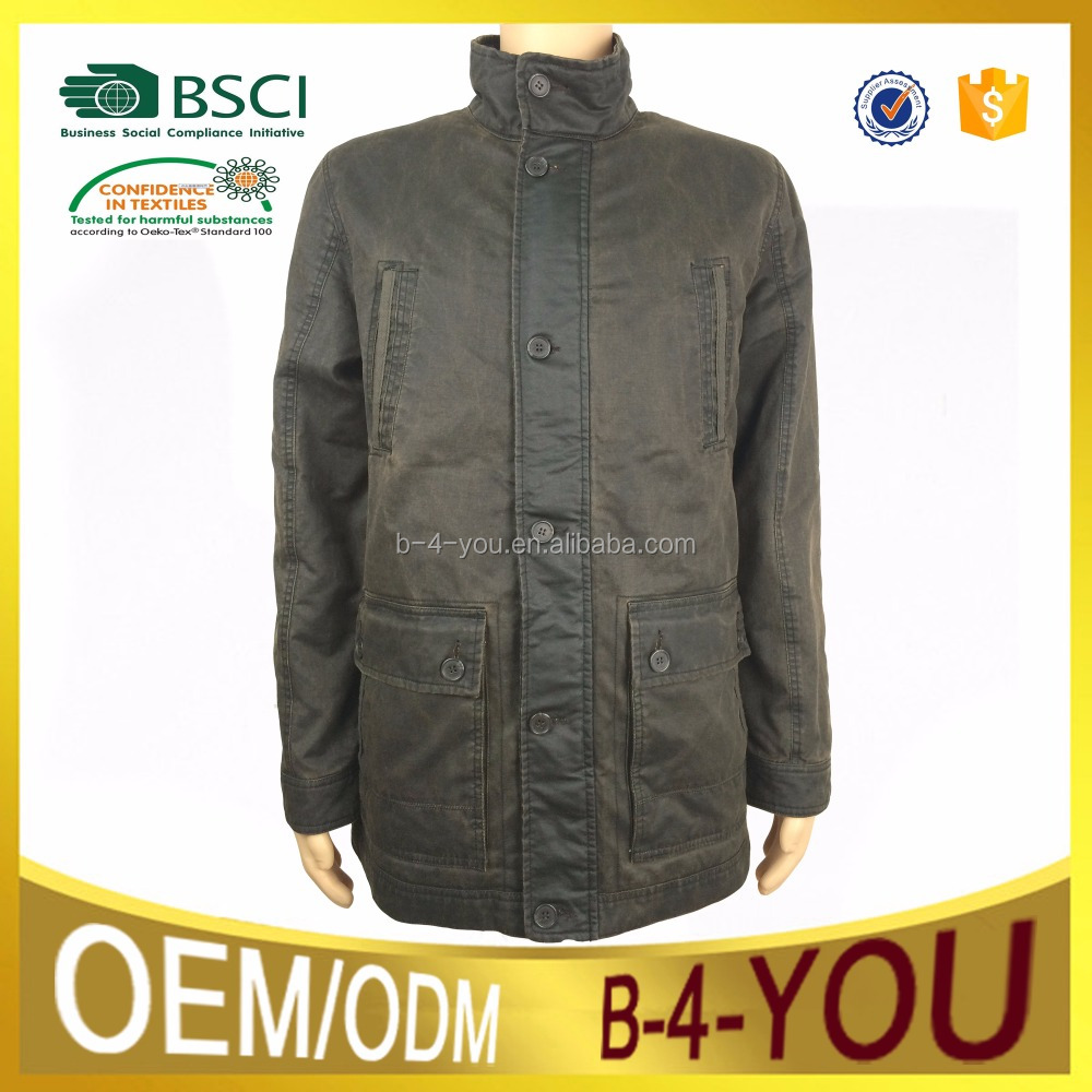 no.8 brass zipper wadding diamonds quilted mens cotton polyester coated suede garment washing winter Jacket
