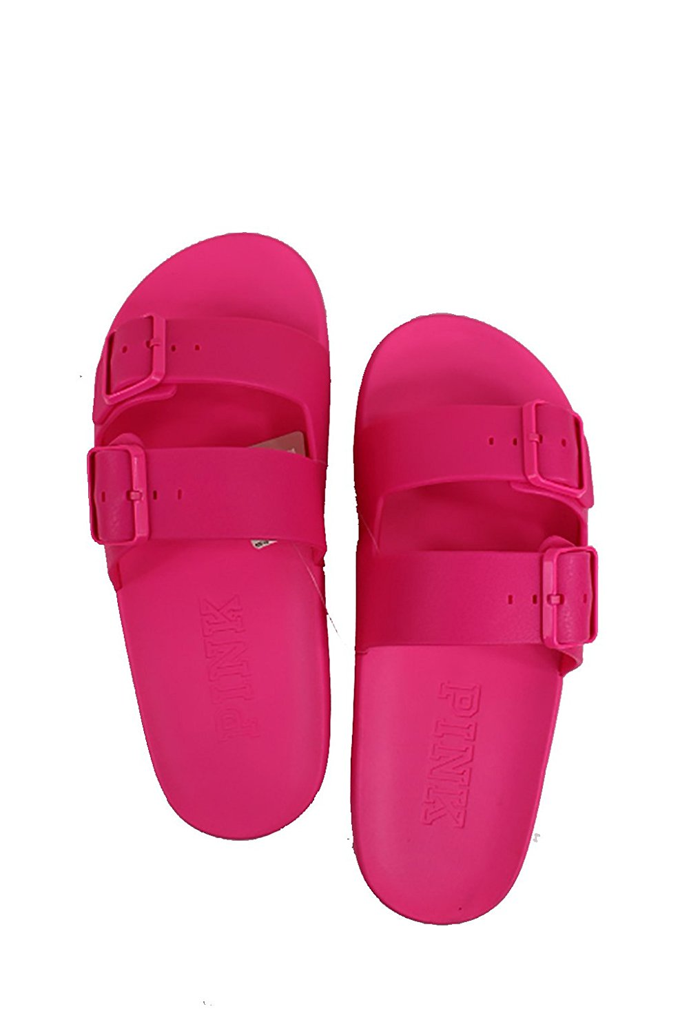 f7596254053aa Get Quotations · victoria secret by spursgirl Victorias Secret Pink Buckle Slides  Hot Pink (Small 5 6