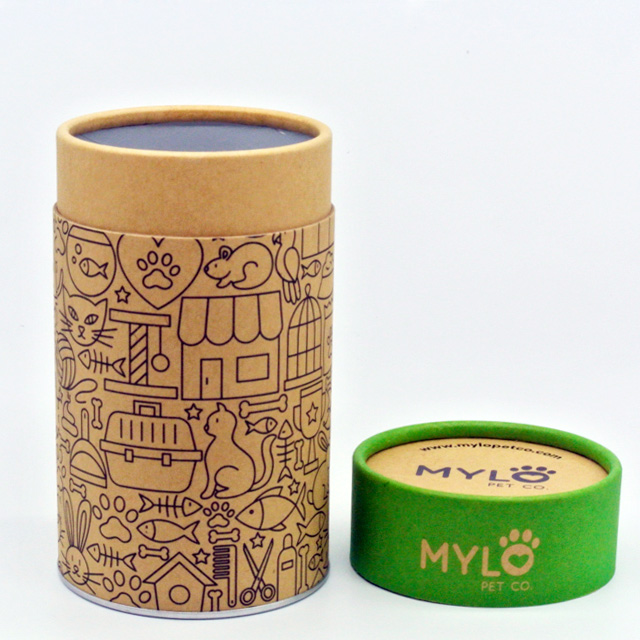 large cylinder food grade cardboard paper tea box packaging