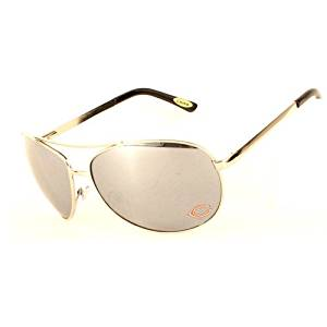 Chicago Bears NFL Team Big Aviator Sunglasses - Mirrored Lenses - Hinged Arms