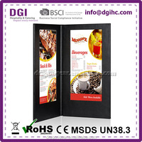 BSCI 2 views led light bar (Patent 2014-2-0239452.0) / 3 panel 6 views leatherette menu covers restaurant used