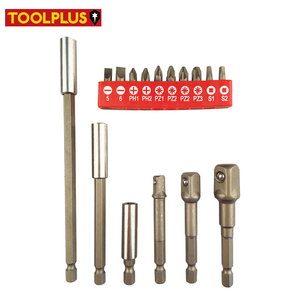 Strong CRV Drill Adapters Bit Extensions Flat Phillips Square Pozi Screwdriver Bit Set