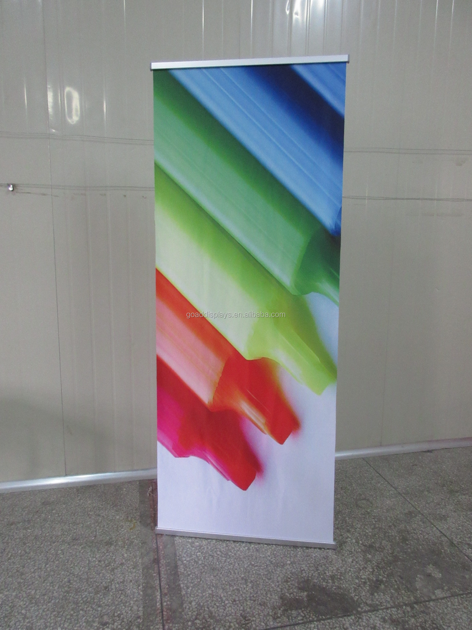 Custom L banner stand for tradeshow/supermaketing/event