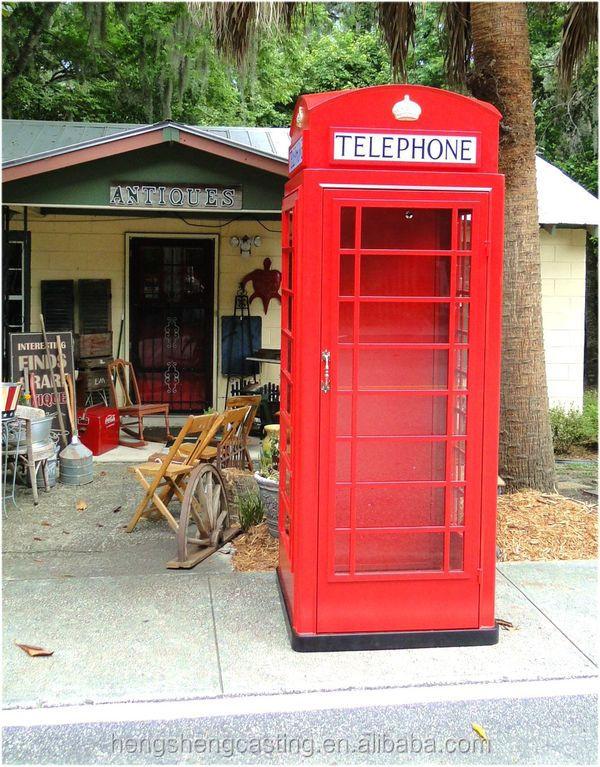 botou hengsheng antique rouge publique cabine t l phonique vendre artisanat en m tal id du. Black Bedroom Furniture Sets. Home Design Ideas