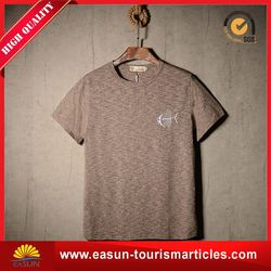 High quality fancy brand men t-shirt color collar t-shirt towel material t-shirt