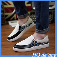 2016 new white casual men's shoes PU leather casual shoes men's canvas shoes MHo-185