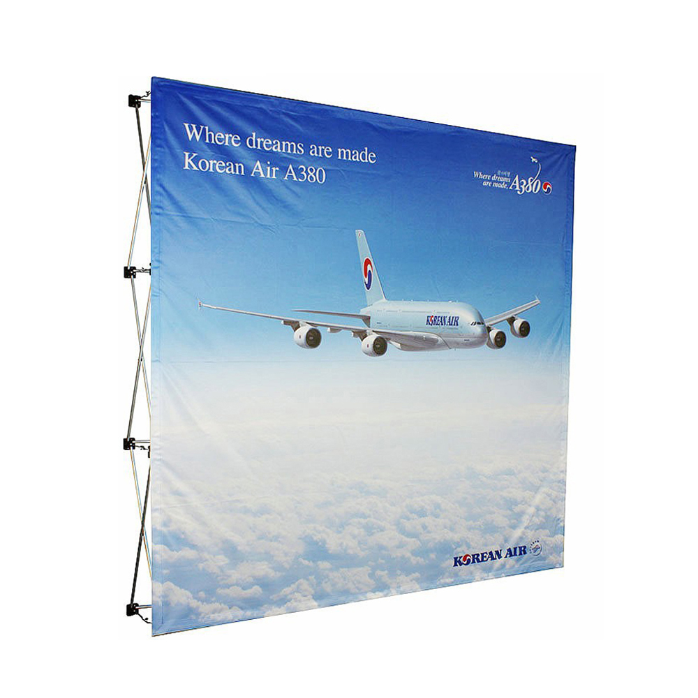 Shop 8ft 3x3 straight curve folding pop up display <strong>stand</strong> with custom printed graphic