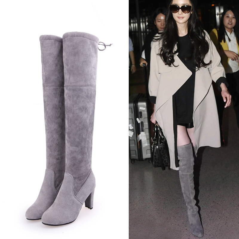 NV7003 Aliexpress Australia Size 34-43 Wholesale PU Leather Woman Long Boot