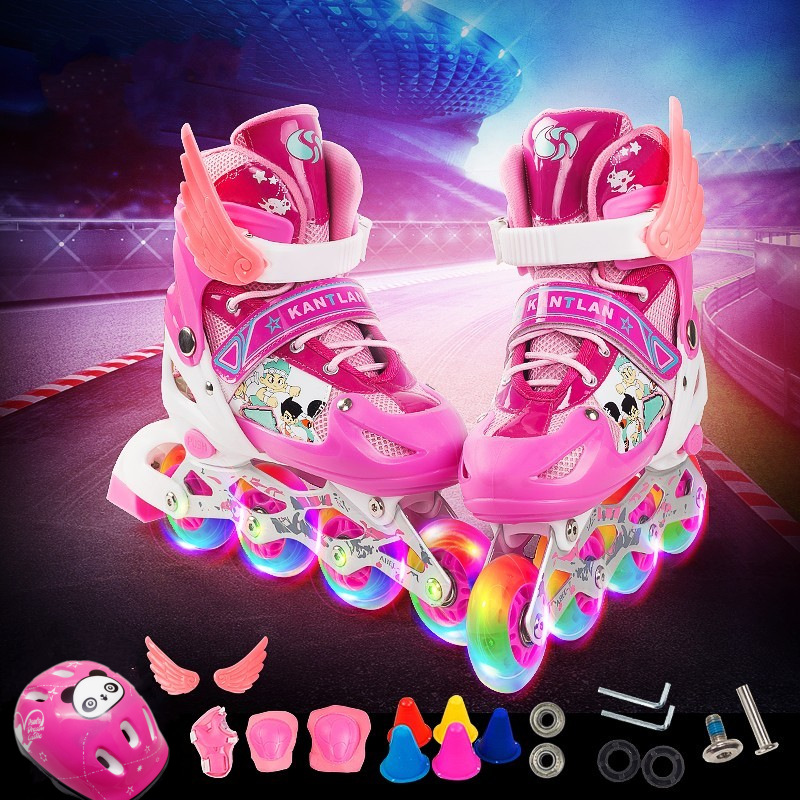 adjustable quad skating shoes single roller skates for kids