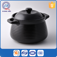 Latest design fashion pure colors round shaped stoneware bakeware