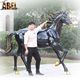 Theme Decoration Realistic Life Size Horse Statue