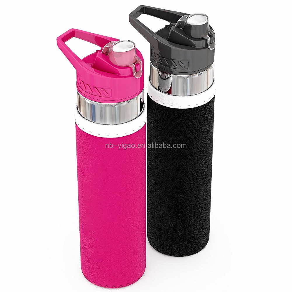 a319eac36f Premium Fruit Infused Water Bottle Insulating SleevesBottom Infuser Style  with Flip Top Lid - 24 oz