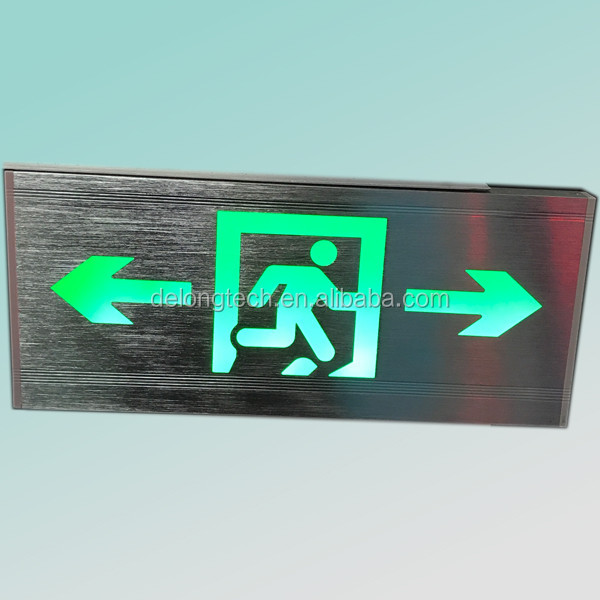 35x16x2cm Wall Mounted Led Luminous Exit Signs With Arrow - Buy ...
