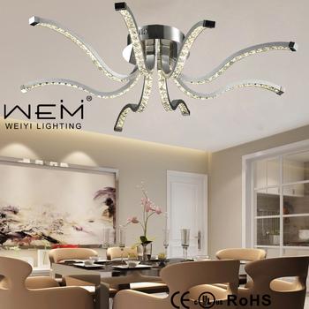 Newly Unique Design Octopus Shape Led Crystal Ceiling Light Weiyi Lamp Modern