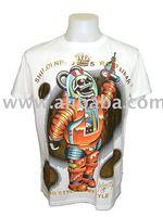 Designer Minute Mirth Tattoo Art Retro Rock T-Shirt