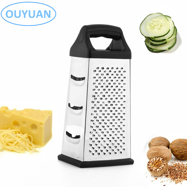 Stainless Steel Box Grater 4 Sided Cheese Vegetable Food Shredder 1 Pack Tool