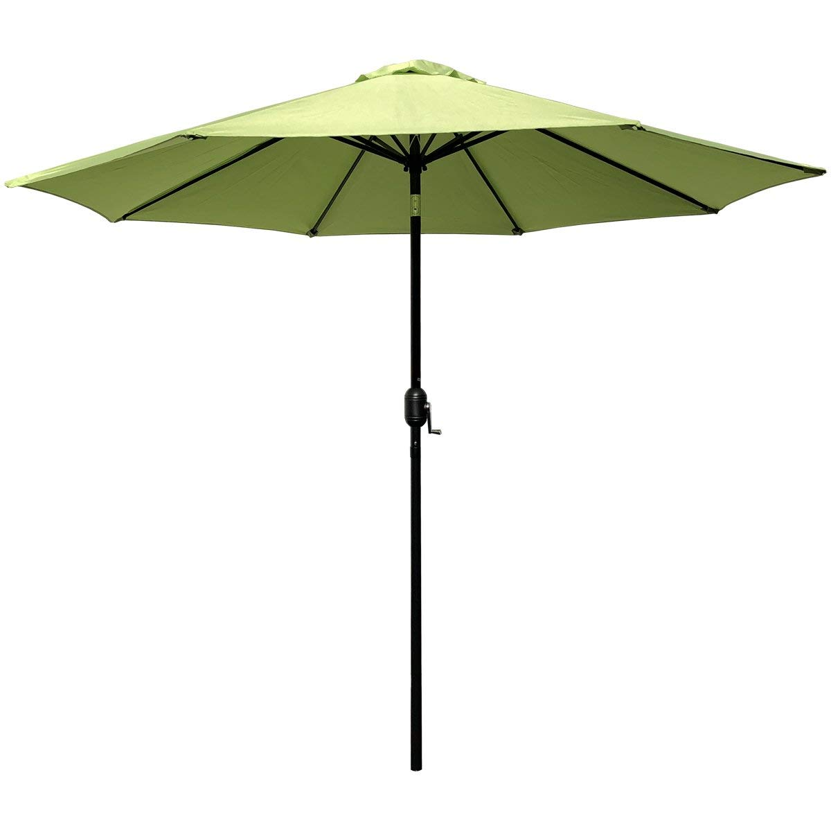 ABBLE Outdoor Patio Umbrella 9 Ft with Tilt and Crank, Weather Resistant, UV Protective Umbrella, Durable, 8 Sturdy Steel Ribs, Market Outdoor Table Umbrella, Lime Green