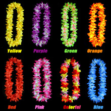 Colorful Hawaii Neck silk flower Leis colorful hawaii leis good quality