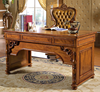 Solid wood office furniture new design American style wooden hand carving office writing table
