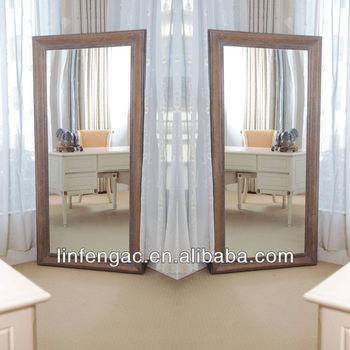 Grote Spiegel Hout.Massief Hout Uniek Stijl Rechthoekige Grote Grote Spiegel Buy