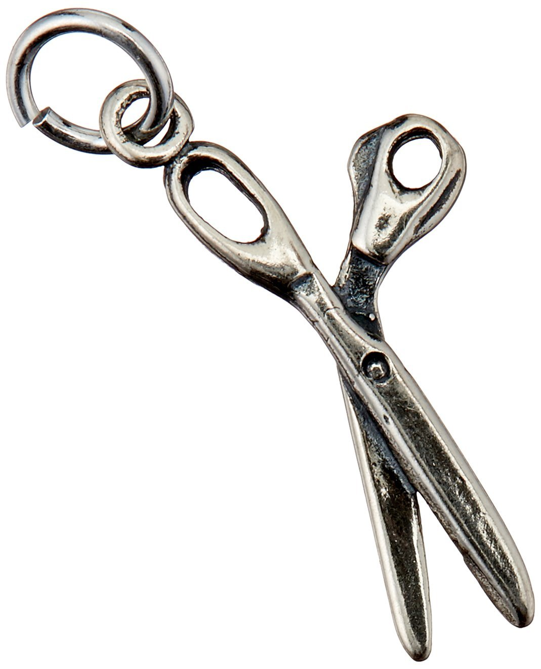 62a0f3f24 Get Quotations · Beadaholique Sterling Silver Charm Sewing, Quilting and  Scrapbooking Hobby Scissors, 24mm