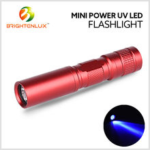 Led 390nm-365nm Purple light uv Flashlight, uv Blacklight Flashlight Urine Detector, uv led Torch