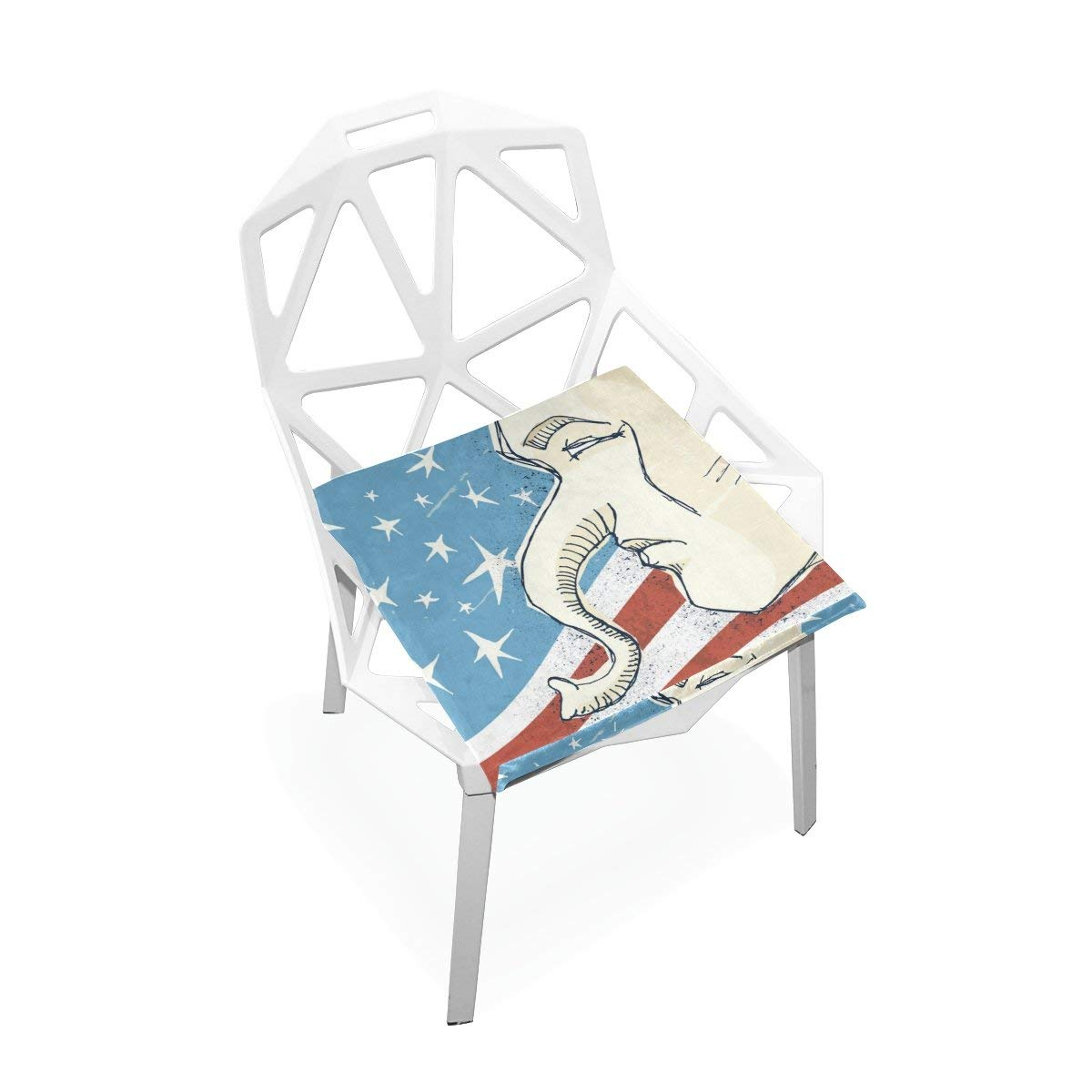 """PLAO Seat Cushion Pad, Republican Illustration Cushions Seat Nonslip Chair Mats for Car Office Kitchen Chairs 16"""" X 16"""""""