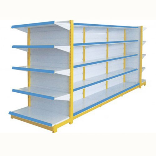 Double side Grocery display stand supermarket shelving