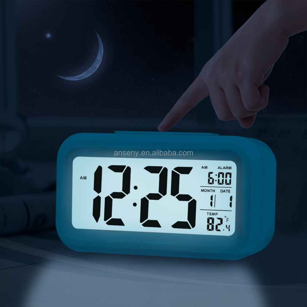 Colori Modifica Luci Nature Sounds LED Digital Alarm Snooze luce Orologio con Termometro e Timer